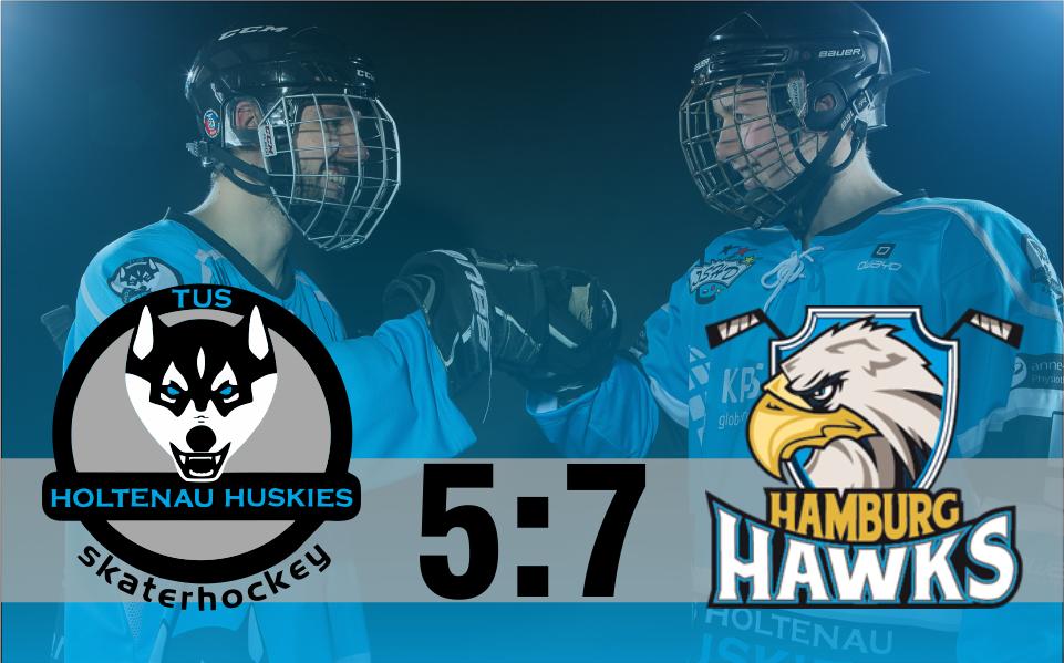 Huskies unterliegen Hawks mit 5:7 (1:3/2:1/2:3)