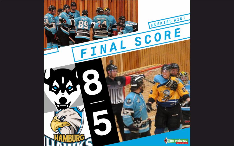 Huskies gelingt Erfolg gegen Hamburg Hawks